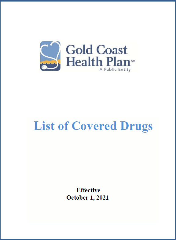 Golf Coast health plan formulary thumbnail